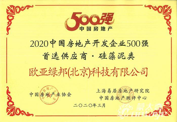 2020年房地产500强企业首选供应商