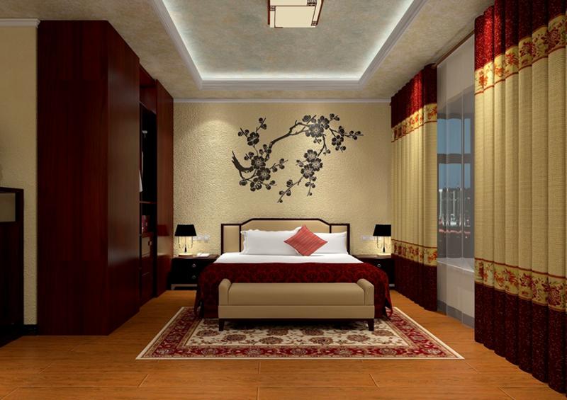 卧室硅藻泥背景墙
