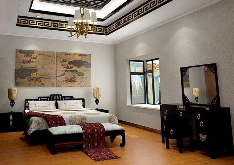 中式硅藻泥背景墙
